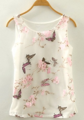 Sweet_Butterfly_Print_Scoop_Neck_Tank_Top_For_Women__WHITE_ONE_SIZE_FIT_SIZE_XS_TO_M_____Sammydress_