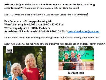 Schnupper Training am 26.06.21 für die Grundschule Pyrbaum
