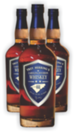 Trey Herring's Carolina Bourbon Whiskey Bottles
