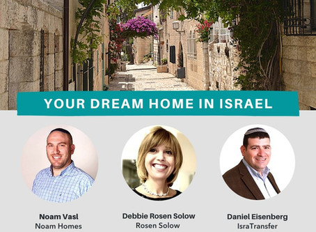 Digital Panel: Finding Your Dream Home in Israel - Even During Corona!