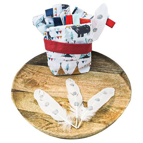 Coffret Cherokee lingettes/gants/serviette