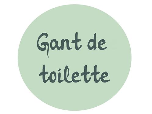 Gant de toilette en bambou personnalisé (Choisissez votre taille)