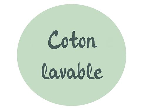 Coton démaquillant lavable personnalisé