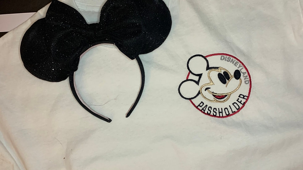 Disneyland Annual Passholder embroidered t-shirt or tank top