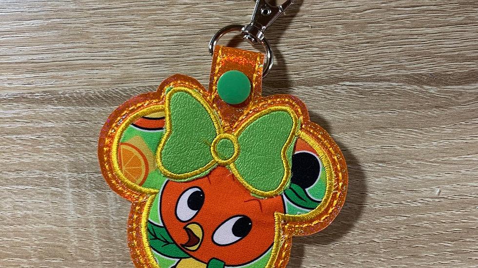 Orange Bird Minnie Mouse large keychain / Bag Charm