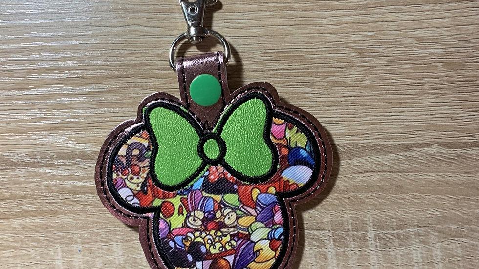 Main Street Snacks Minnie Mouse large keychain / Bag Charm