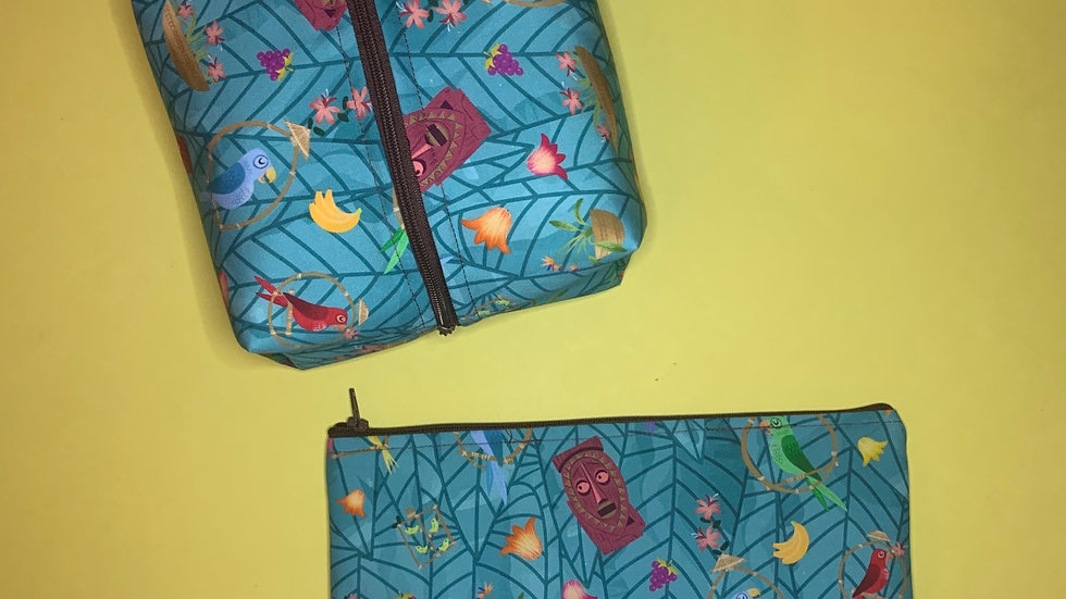 Tiki Terrace boxy bag or makeup bag