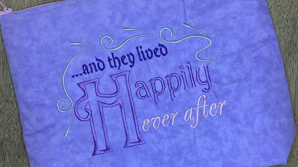 Happily Ever After towels, makeup bag, tote