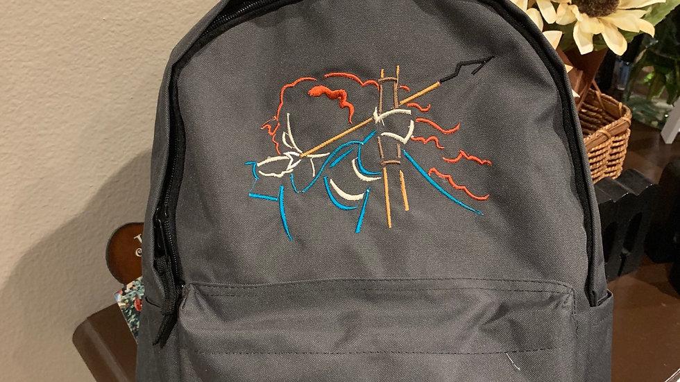 Merida embroidered backpack