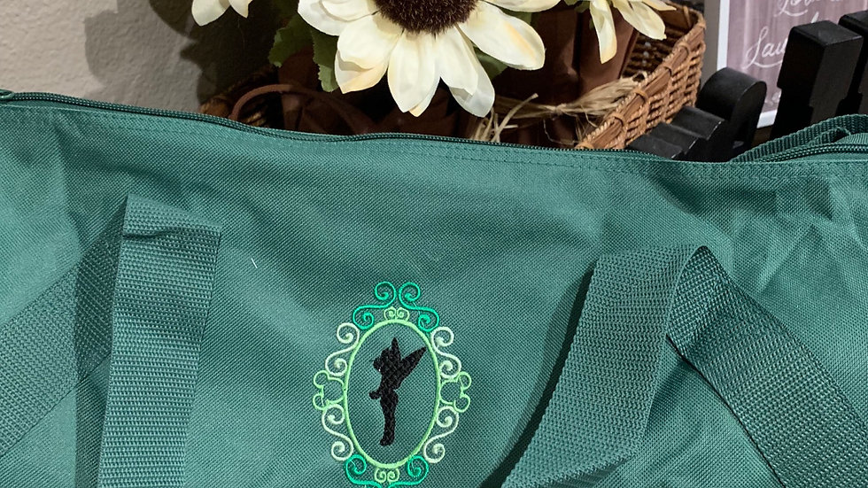 Tinkerbell Frame embroidered duffel bag