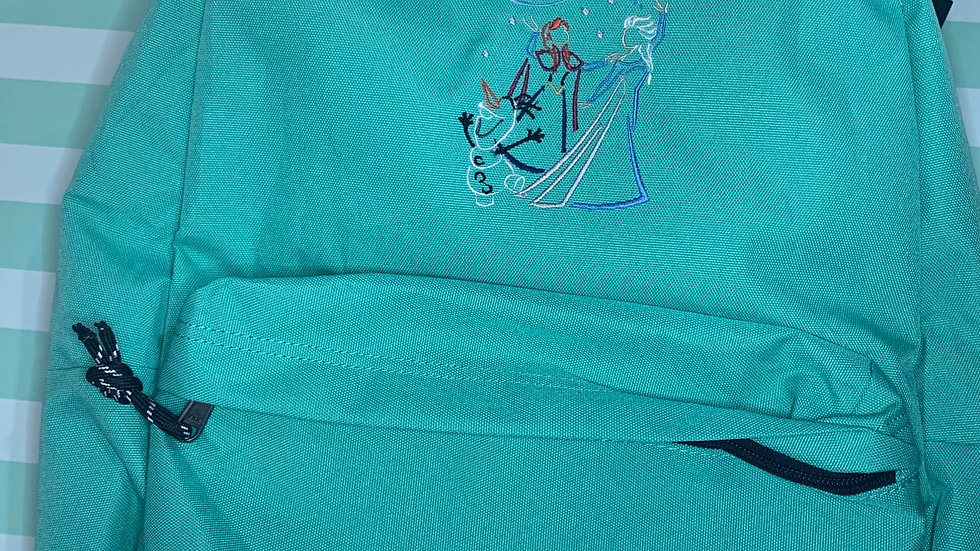 Anna, Elsa and Olaf embroidered backpack