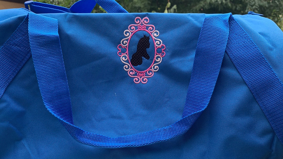 Aurora Silhouette Frame embroidered duffel bag