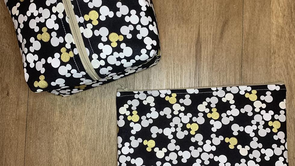 Metallic Mickeys Makeup Bag or Boxy Bag