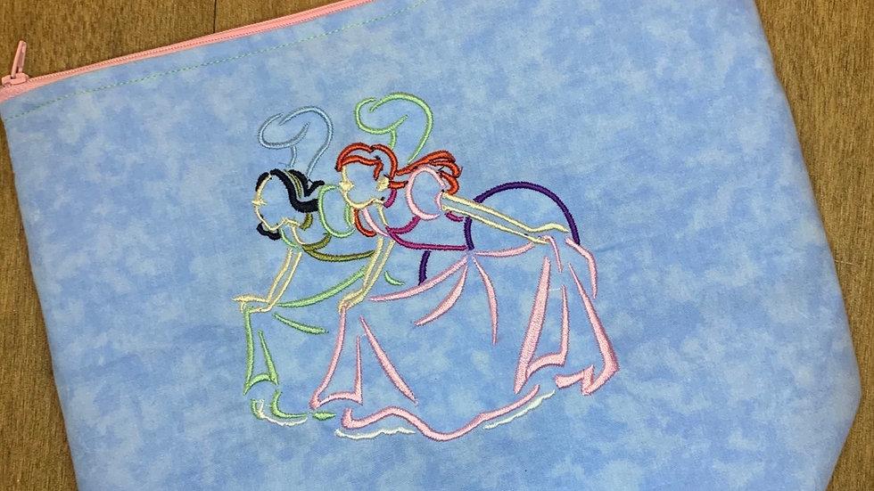 Evil Step Sisters from Cinderella towels, makeup bag, tote
