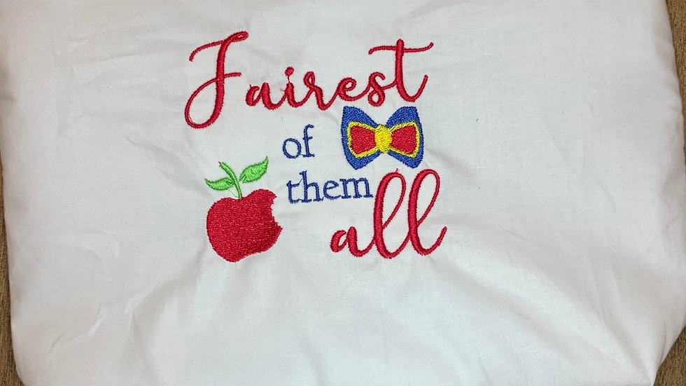 Fairest of them All - Snow White towels, makeup bag, tote