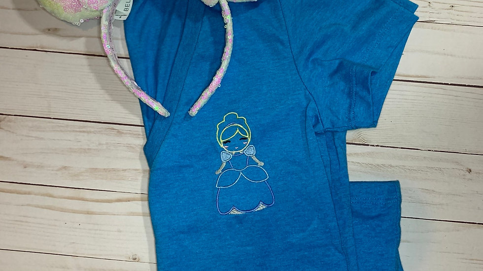 Cinderella embroidered T-Shirt or tank top