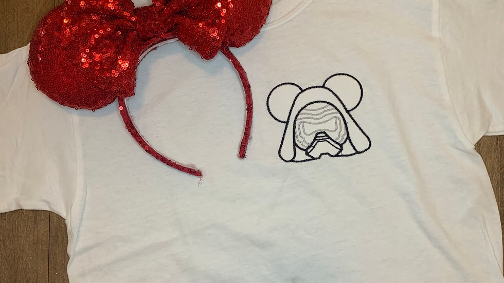 Kylo Ren Mouse embroidered t-shirt or tank