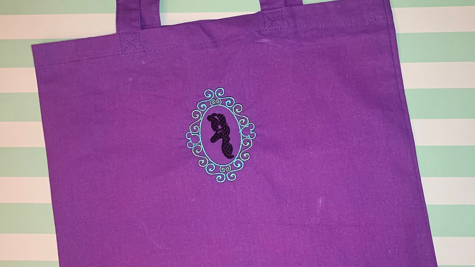 Jasmine Frame embroidered market tote