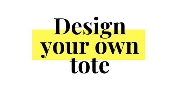 Design your own tote bag / trick or treat bag