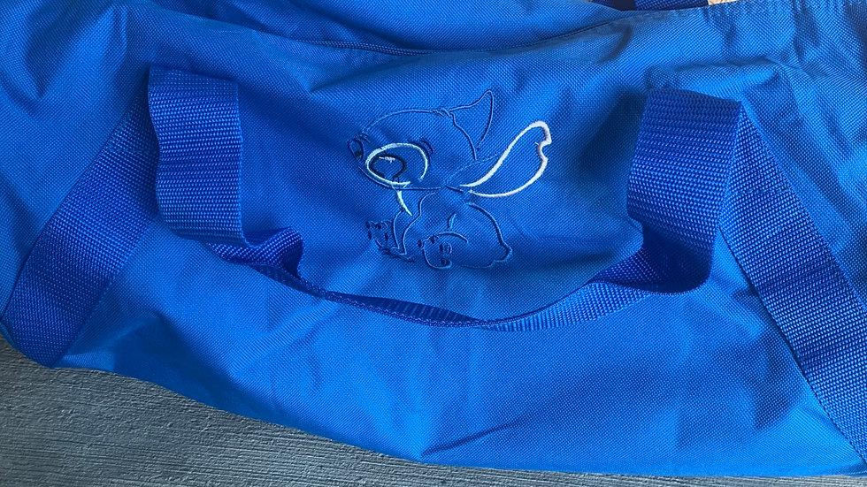 Sitting Stitch embroidered duffel bag