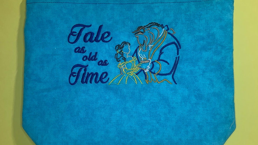 Tale as Old as Time towels, makeup bag, tote bag, bl