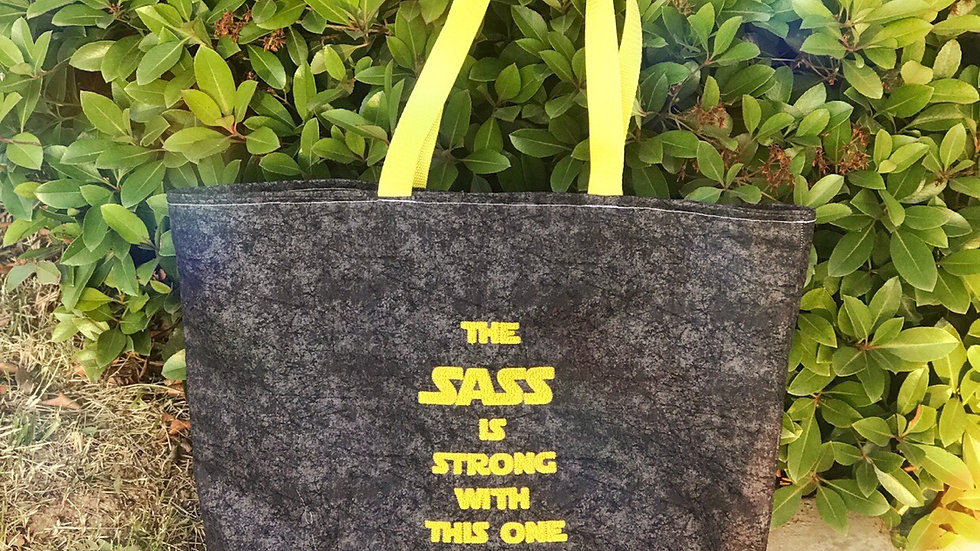 Sass is strong with this one - Star wars embroidered tote bag, makeup bag, towel