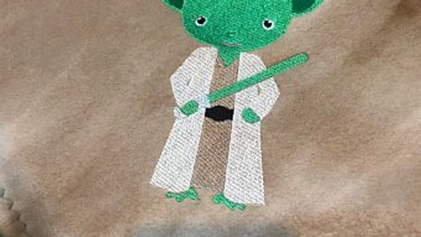 Yoda jedi master embroidered towel, blanket, tote bag,makeup bag