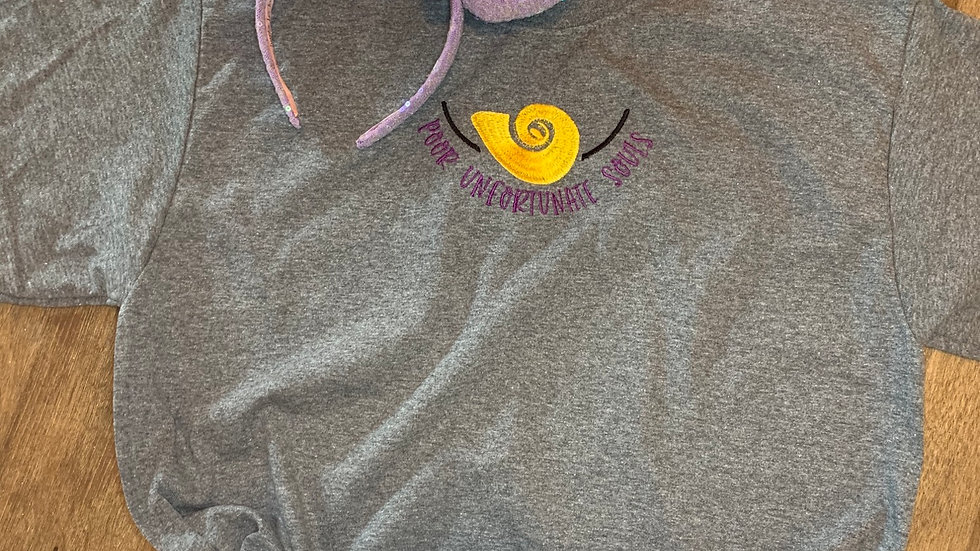 Poor Unfortunate Souls embroidered t-shirt or tan