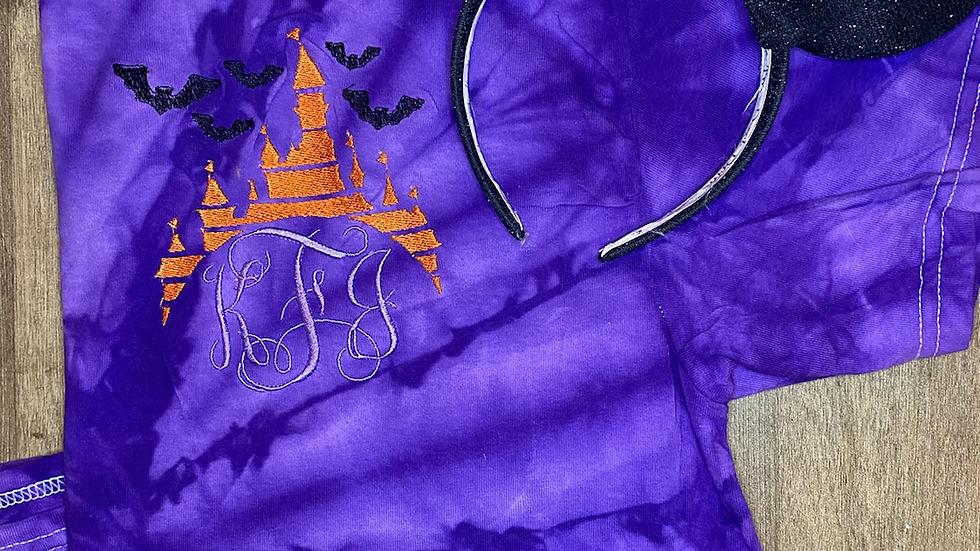 Spooky Castle Inspired Monogram Tye Dye shirt