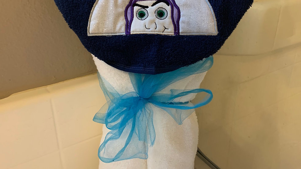 Buzz Lightyear embroidered hooded towel