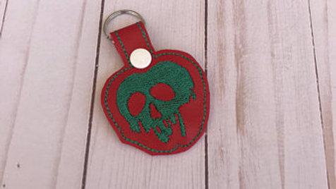 Poison Apple embroidered keychain