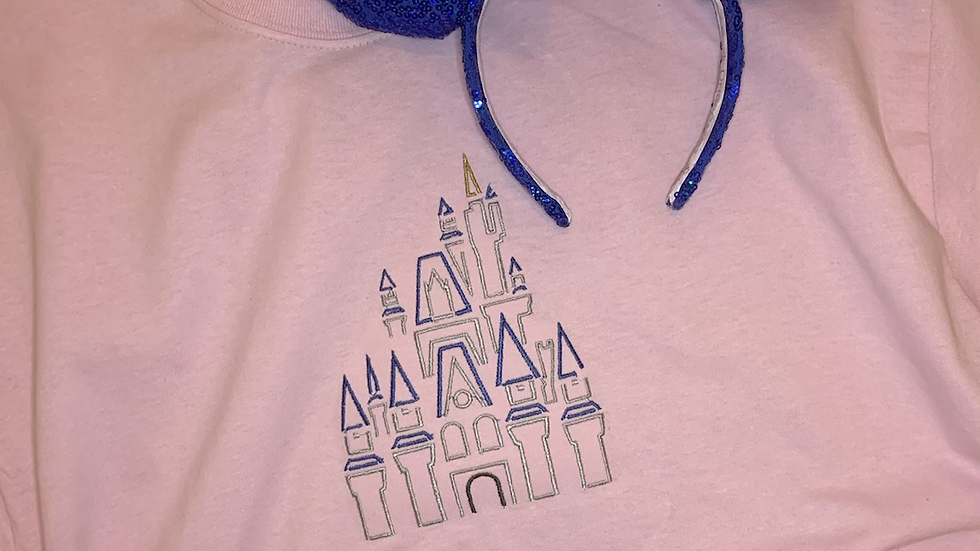 Cinderella's Castle embroidered t-shirt or tank