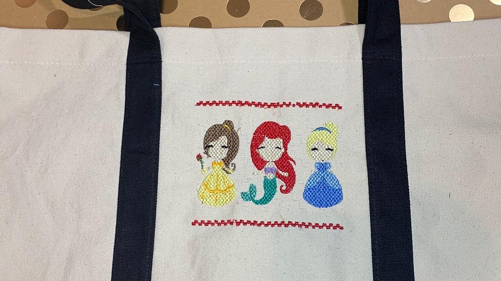 Belle, Ariel and Cinderella Smock pocket tote