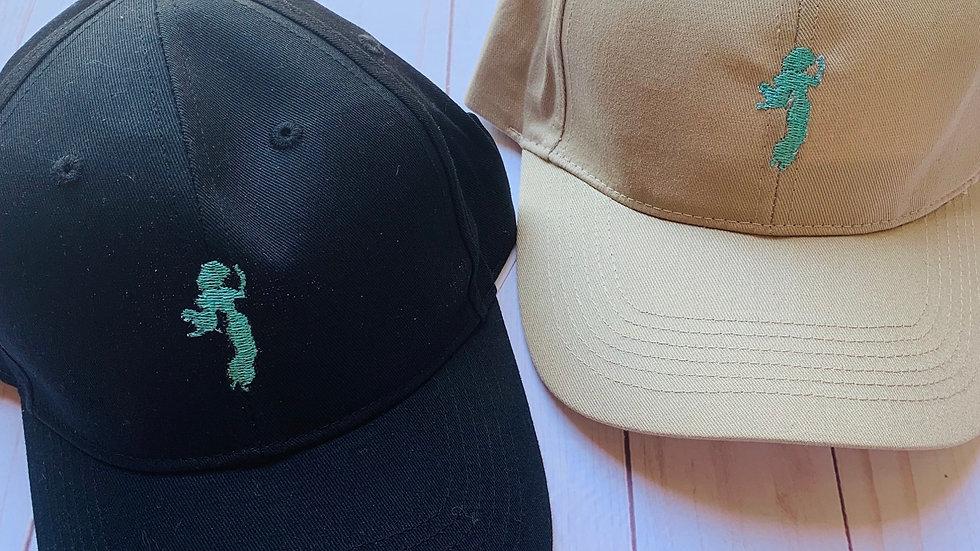 Princess Jasmine silhouette embroidered hat