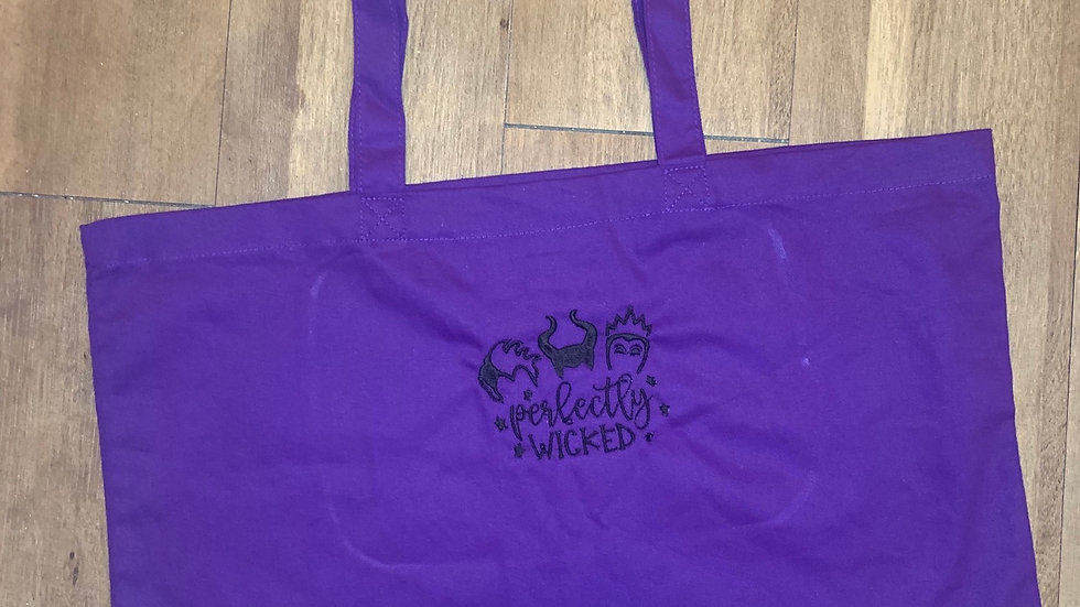 Perfectly Wicked Large Canvas tote