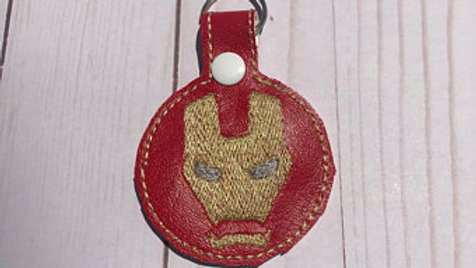 Ironman embroidered keychain