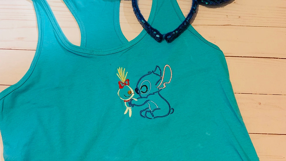 Stitch and scrump embroidered T-Shirt and Tank top