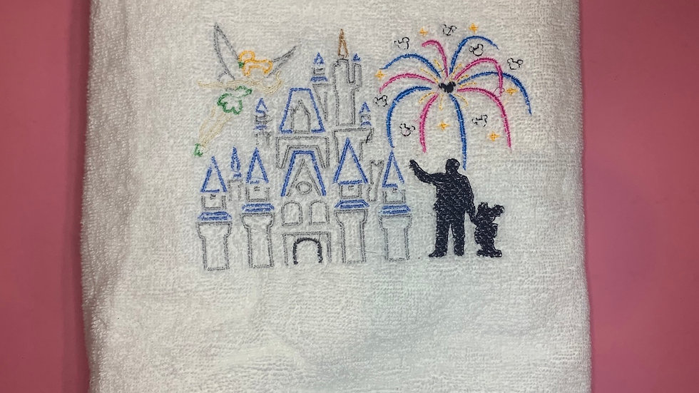 Fireworks on Main Street (WDW) embroidered towels, blanket, make