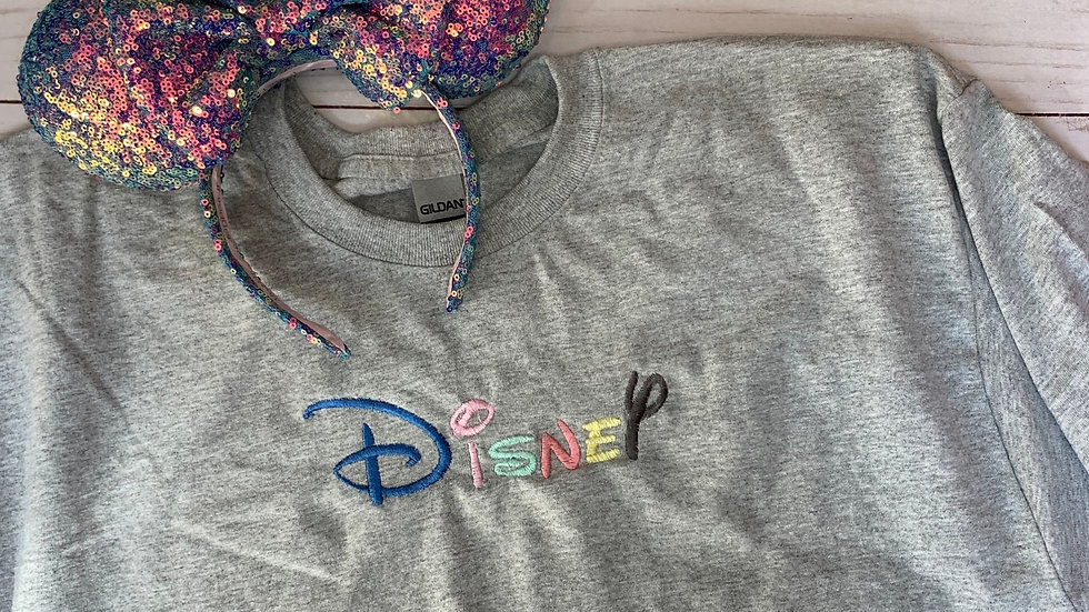 Pastel Disney embroidered t-shirt or tank top