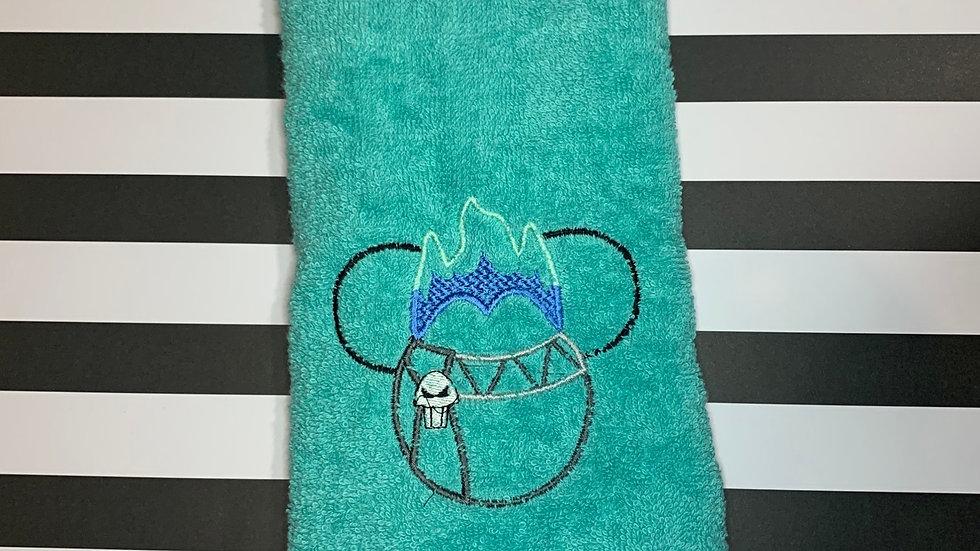 Hades embroidered towels, blanket, makeup bag