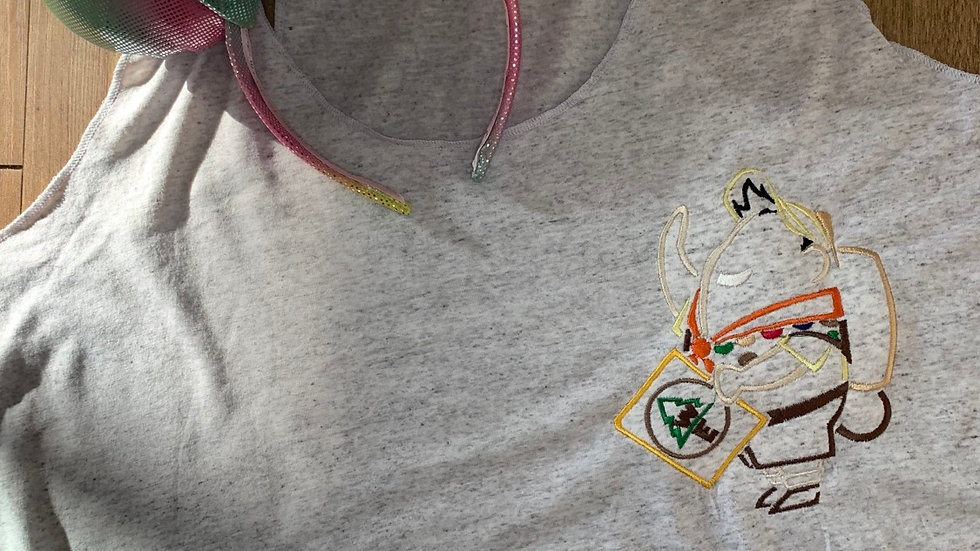 Russell embroidered t-shirt or tank
