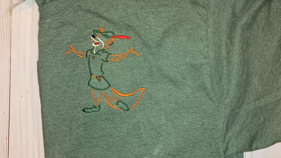 Robin Hood embroidered t-shirt or tank