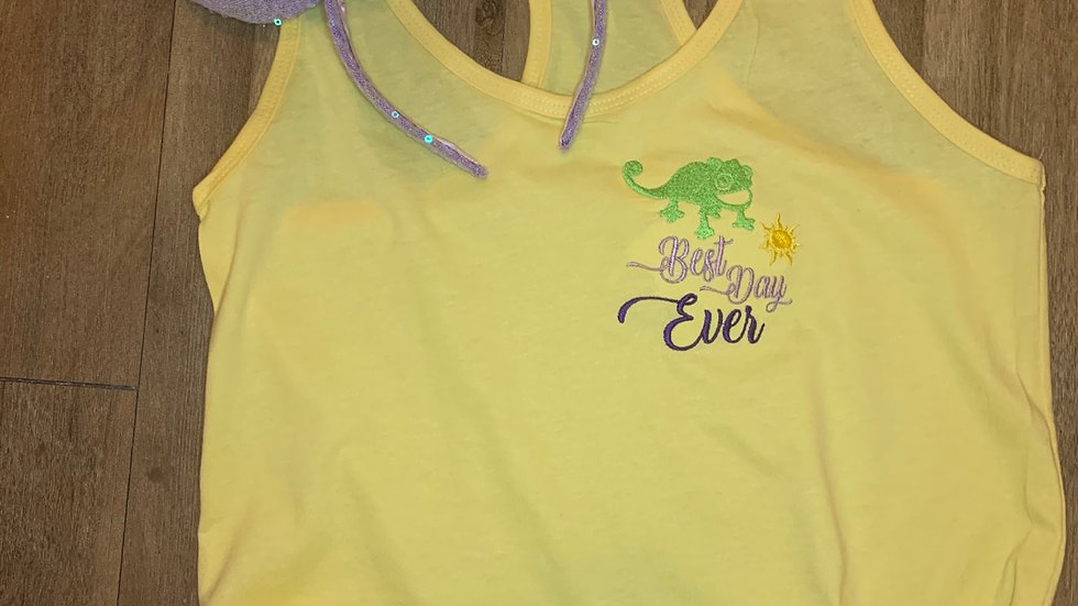 Pascal Best Day Ever embroidered t-shirt or tank