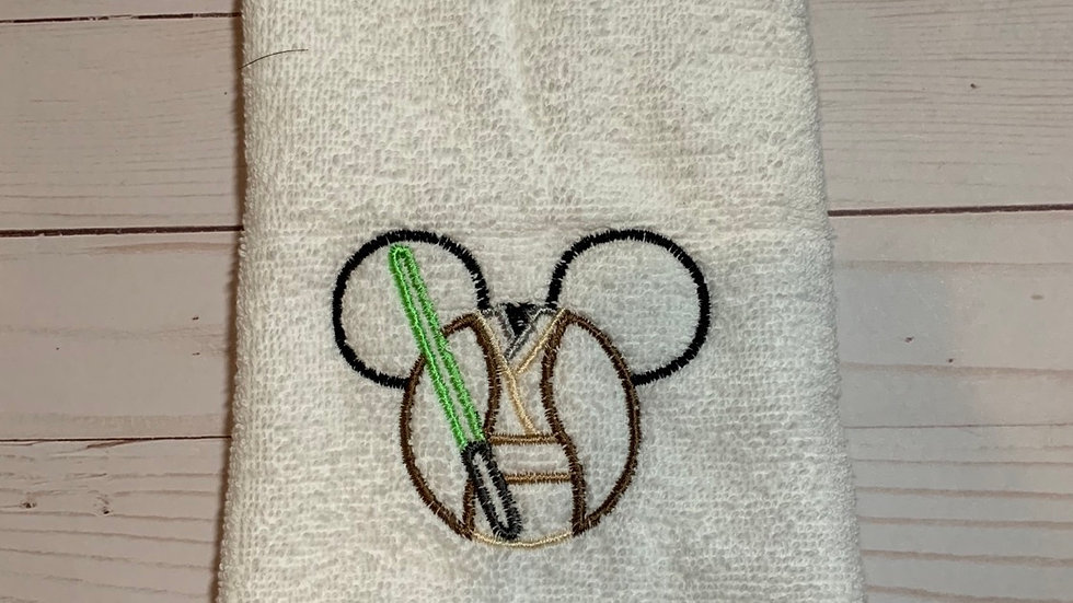 Dopey Mouse embroidered towels, blanket, makeup bag