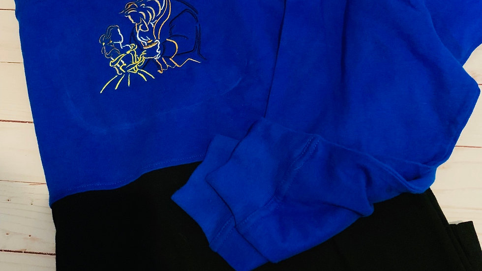 Beauty and the beast embroidered spirit jersey