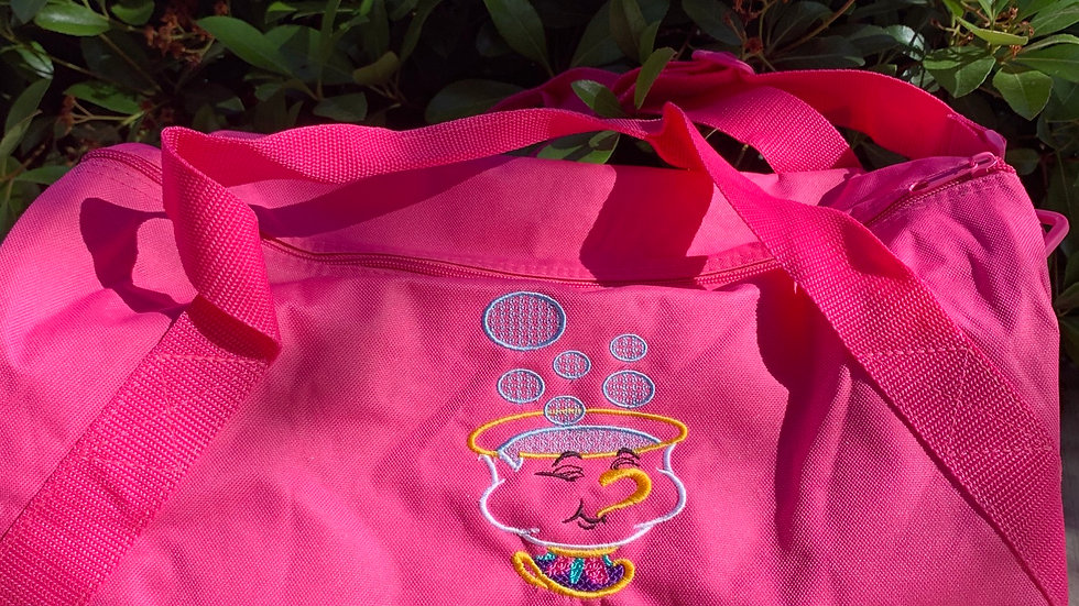 Chip Cup embroidered duffel bag
