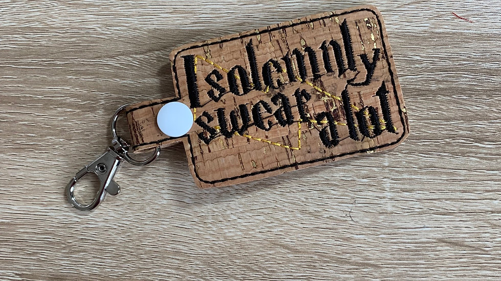 I solemnly swear A lot embroidered keychain