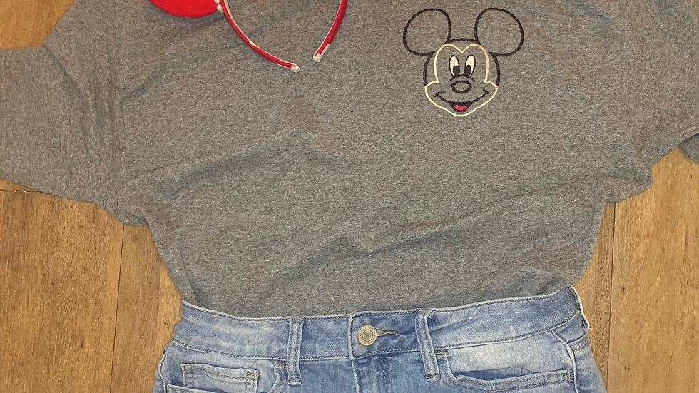Classic Mickey Mouse embroidered t-shirt or tank