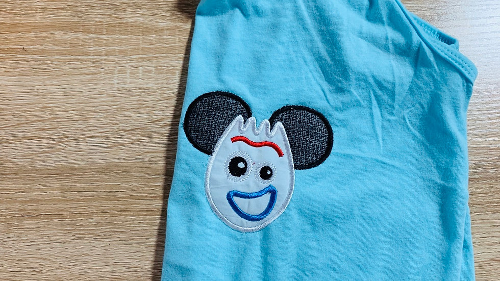 Forky Mouse embroidered tank top or t-shirt
