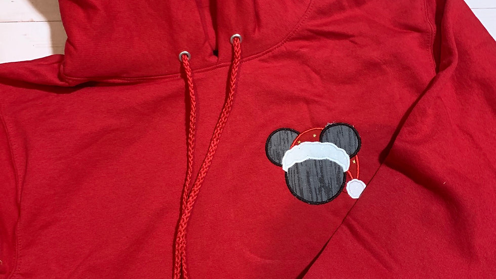 Santa Mickey Mouse embroidered hoodie, pullover, 1/4 zip